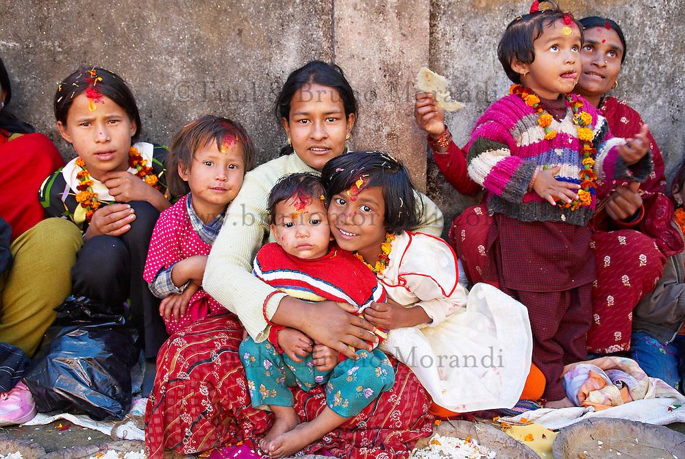 Nepal. Vallee de Katmandou. Fete des enfants dans la ville de Dhulikel. // Nepal. Kathmandu valley. Children festival at Dhulikel city.