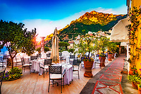 &quot;Breakfast at dawn on the veranda of Albergo California Positano&quot;...<br />