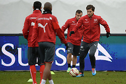 04.03.2014, AFG Arena, St. Gallen, SUI, Training der Schweizer Nationalmannschaft, vor dem Testspiel gegen Kroatien, im Bild Admir Mehmedi (SUI) // during a practice session of swiss national football team prior to the international frindley against Croatia at the AFG Arena in St. Gallen, Switzerland on 2014/03/04. EXPA Pictures © 2014, PhotoCredit: EXPA/ Freshfocus/ Andy Mueller<br /> <br /> *****ATTENTION - for AUT, SLO, CRO, SRB, BIH, MAZ only*****