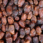 These dates were on sale at a food stand inside the medina (old city) of Marrakech, Morocco.  There was an abundance of food and good quality food in the markets.  Dates like these could be purchased in many places throughout the medina and the square.