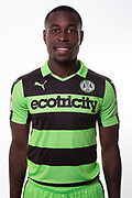 Forest Green Rovers Dale Bennett(2) during the Forest Green Rovers Photocall at the New Lawn, Forest Green, United Kingdom on 31 July 2017. Photo by Shane Healey.
