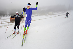 Bostjan Lekan and Vasja Rupnik at training session of Slovenian biathlon team before new season 2009/2010,  on November 16, 2009, in Pokljuka, Slovenia.   (Photo by Vid Ponikvar / Sportida)