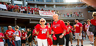 Badger fans having fun at Badger Bash at Union South in 2014.