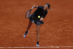 May 30, 2019 - Paris, France - Belarus's Victoria AZARENKA hits a ball during the women's singles second round of the French Open tennis tournament against Japan's Naomi OSAKA at Roland Garros in Paris, France on May 30, 2019. (Credit Image: © Mehdi Taamallah/NurPhoto via ZUMA Press)