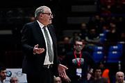 Romeo Sacchetti <br /> A X Armani Exchange Olimpia Milano - Vanoli Cremona <br /> Basket Serie A LBA 2019/2020<br /> Milano 09 February 2020<br /> Foto Mattia Ozbot / Ciamillo-Castoria