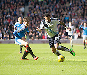 Dundee&rsquo;s Kane Hemmings goes past Rangers&rsquo; Rob Kierrnan- Rangers v Dundee, William Hill Scottish Cup quarter final at Ibrox Park<br /> <br />  - &copy; David Young - www.davidyoungphoto.co.uk - email: davidyoungphoto@gmail.com