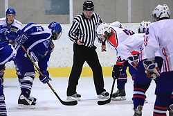 Rok Ticar (right) at friendly ice-hockey game between Slovenian National Team U20 and HKMK Bled, before World Championship Division 1, Group A in Herisau, Switzerland, on December 11, 2008, in Bled, Slovenia. (Photo by Vid Ponikvar / Sportida)