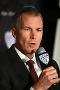 University of Southern California head coach Andy Enfield during Pac-12 Basketball Media Day, Tuesday, Oct. 8, 2019, in San Francisco, Calif. (Dylan Stewart/Image of Sport)