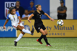 September 19, 2017 - Cincinnati, OH, USA - Cincinnati, OH - Tuesday September 19, 2017: Mallory Pugh, Ria Percival during an International friendly match between the women's National teams of the United States (USA) and New Zealand (NZL) at Nippert Stadium. (Credit Image: © Brad Smith/ISIPhotos via ZUMA Wire)