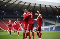 Football - 2016 / 2017 Scottish League Cup - Semi-Final - Greenock Morton vs. Aberdeen<br /> <br /> Kenny McLean of Aberdeen celebrates scoring the second goal at Hampden Park.<br /> <br /> COLORSPORT/LYNNE CAMERON