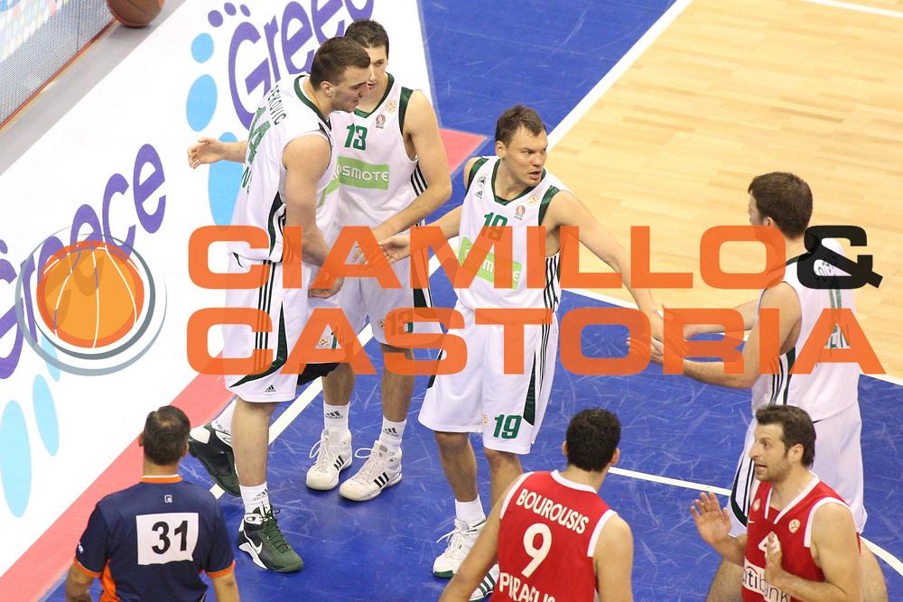DESCRIZIONE : Berlino Eurolega 2008-09 Final Four Semifinale Olympiacos Piraeus Panathinaikos Atene<br /> GIOCATORE : Sarunas Jasikevicius<br /> SQUADRA : Panathinaikos Atene<br /> EVENTO : Eurolega 2008-2009 <br /> GARA : Olympiacos Piraeus Panathinaikos Atene<br /> DATA : 01/05/2009 <br /> CATEGORIA : Esultanza<br /> SPORT : Pallacanestro <br /> AUTORE : Agenzia Ciamillo-Castoria/G.Ciamillo