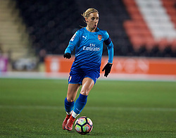WIDNES, ENGLAND - Wednesday, February 7, 2018: Arsenal Ladies' Jordan Nobbs during the FA Women's Super League 1 match between Liverpool Ladies FC and Arsenal Ladies FC at the Halton Stadium. (Pic by David Rawcliffe/Propaganda)