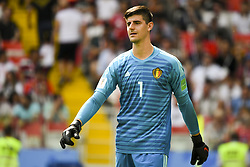 June 23, 2018 - Moscow, Russia - Goalkeeper Thibaut Courtois of Belgium pictured during the 2018 FIFA World Cup Group G match between Belgium and Tunisia at Spartak Stadium in Moscow, Russia on June 23, 2018  (Credit Image: © Andrew Surma/NurPhoto via ZUMA Press)
