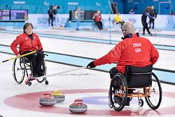Gregor Ewan, Aileen Neilson, Wheelchair Curling Semi Finals at the 2014 Sochi Winter Paralympic Games, Russia