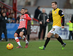 Exeter City's Liam Sercombe passes the ball. - Photo mandatory by-line: Alex James/JMP - Mobile: 07966 386802 - 10/01/2015 - SPORT - football - Exeter - St James Park - Exeter City v Northampton - Sky Bet League Two
