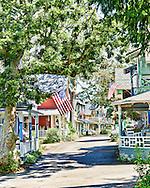 Gingerbread Cottages at Oak Bluffs,Martha's Vineyard.