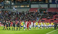 FOOTBALL: The players arrives on the pitch before the UEFA Europa League Group F match between FC København and FC Zlin at Parken Stadium, Copenhagen, Denmark on November 2, 2017. Photo: Claus Birch