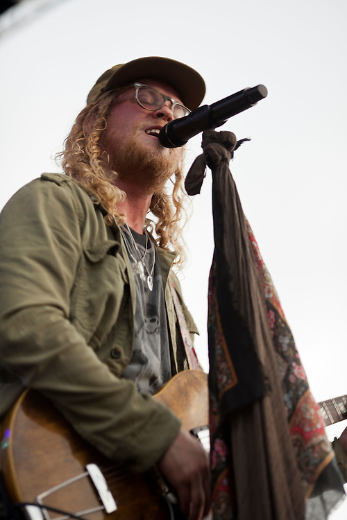 Allen Stone performs at the NewBo Music Fest in downtown Cedar Rapids on Saturday, August 8, 2015. (Rebecca F. Miller/Freelance for the Gazette)