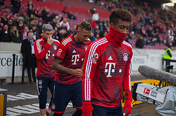 December 16, 2017 - Stuttgart, Germany - Bayerns Kingsley Coman, Jerome Boateng and Robert Lewandowski during the warm-up before the German first division Bundesliga football match between VfB Stuttgart and Bayern Munich on December 16, 2017 in Stuttgart, Germany. (Credit Image: © Bartek Langer/NurPhoto via ZUMA Press)