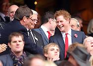 © SPORTZPICS / Seconds Left Images 2010 -  HRH Prince Harry smiles England v New Zealand All Blacks - Investec Challenge Series - 06/11/2010 - Twickenham Stadium  - London - All rights reserved..