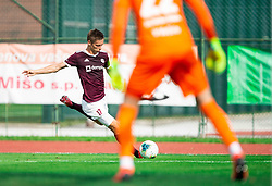 Tilen Mlakar of Triglav during football match between NK Triglav and NK Celje in 7th Round of Prva liga Telekom Slovenije 2019/20, on August 25, 2019 in Sports park, Kranj, Slovenia. Photo by Vid Ponikvar / Sportida