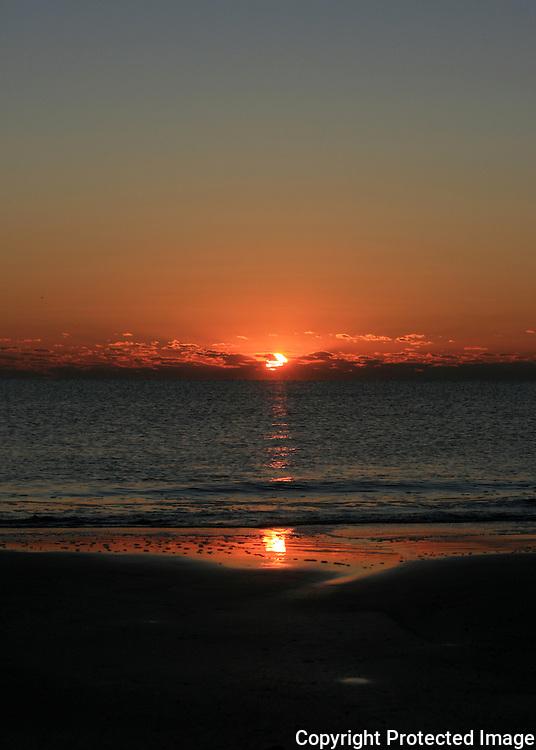 Jekyll Island Sunrise, sunset over the sea