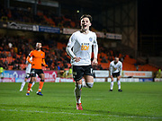 30th November 2018, Tannadice Park, Dundee, Scotland; Scottish Championship football, Dundee United versus Ayr United; Lawrence Shankland of Ayr United celebrates after scoring for 4-0 in the 86th minute