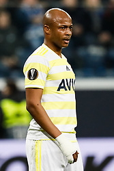 February 21, 2019 - Saint Petersburg, Russia - Andre Ayew of Fenerbahce SK looks on during the UEFA Europa League Round of 32 second leg match between FC Zenit Saint Petersburg and Fenerbahce SK on February 21, 2019 at Saint Petersburg Stadium in Saint Petersburg, Russia. (Credit Image: © Mike Kireev/NurPhoto via ZUMA Press)