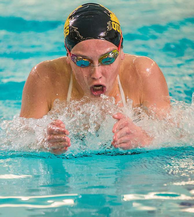 Moorestown's Carter Orth swims in the 200 IM during the Burlington County Scholastic League swimming championships at Burlington County Community College in Pemberton, N.J., Friday, January 30, 2015.  Photo by Bryan Woolston / @woolstonphoto.