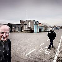 Nederland, Amsterdam , 15 februari 2011..Het bedrijventerreintje achter de Havenstraat, het z.g. Havenstraatterrein in Amsterdam Zuid nabij Stadionplein, waar in de nabije toekomst een nieuwe woonwijk gerealiseerd gaat worden..Foto:Jean-Pierre Jans
