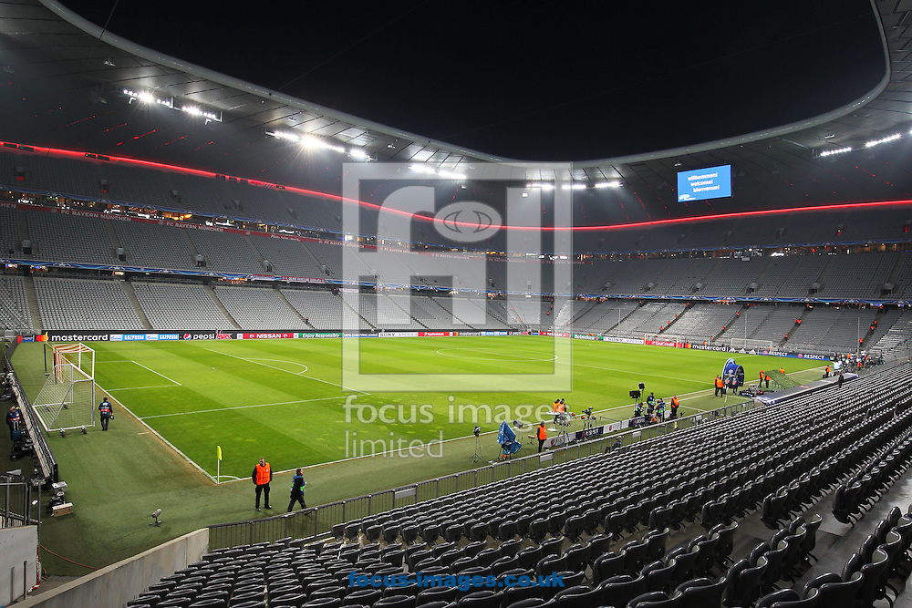 General View of the Allianz Arenal during the UEFA Champions League match at Allianz Arena, Munich<br /> Picture by Yannis Halas/Focus Images Ltd +353 8725 82019<br /> 15/02/2017