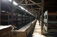 09 APR 2012, KRAKOW/POLAND:<br /> Blick in eine restaurierten Holz-Barake, Staatliches polnisches Museum / Gedenkstaette des ehem. Konzentrationslager Ausschitz-Birkenau<br /> IMAGE: 20120409-01-055<br /> KEYWORDS: Krakau, KZ, Vernichtungslagers Auschwitz II–Birkenau, Polen