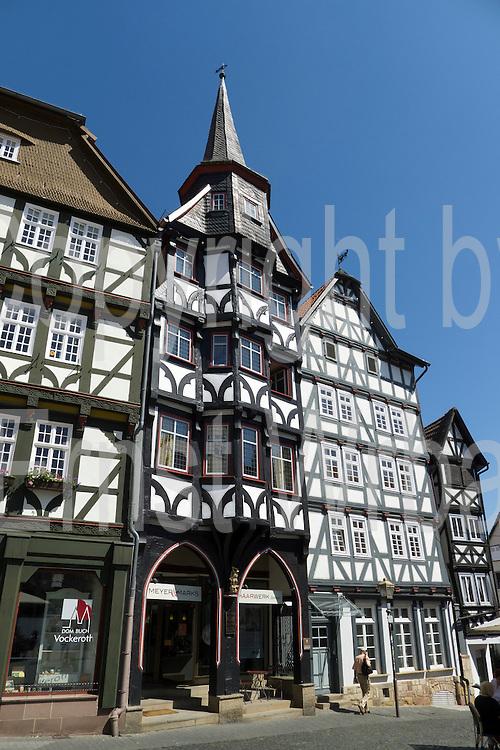 Fachwerkhäuser, Marktplatz, Altstadt, Fritzlar, Nordhessen, Hessen, Deutschland   market square, old town, Fritzlar, Hesse, Germany