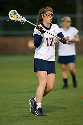 Virginia M Brittany Kalkstein (17).  The #4 ranked Virginia Cavaliers women's lacrosse team faced Old Dominion Lady Monarchs at the University of Virginia's Klockner Stadium in Charlottesville, VA on April 2, 2008.