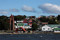 A view of Stanley, the capital of the Falkland Islands, on Tuesday, March 20, 2007. This year is the 25 anniversary of the war for sovereignty of the islands between the United Kingdom and Argentina. The two-month war resulted in the withdrawal of Argentinean forces and the islands remained part of the United Kingdom. After the war on the islands there has been strong economic development. (Photo/Scott Dalton)
