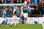 during the Scottish League Cup semi-final match between Hibernian and St Johnstone at Tynecastle Stadium, Gorgie, Scotland on 30 January 2016. Photo by Craig McAllister.