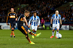 Matt Ritchie of Newcastle United scores his sides first goal from the penalty spot - Mandatory by-line: Matt McNulty/JMP - 04/03/2017 - FOOTBALL - The John Smith's Stadium - Huddersfield, England - Huddersfield Town v Newcastle United - Sky Bet Championship