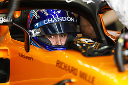 March 24, 2018 - Melbourne, Victoria, Australia - ALONSO Fernando (spa), McLaren Renault MCL33, portrait garage box during 2018 Formula 1 championship at Melbourne, Australian Grand Prix, from March 22 To 25 - s: FIA Formula One World Championship 2018, Melbourne, Victoria : Motorsports: Formula 1 2018 Rolex  Australian Grand Prix, (Credit Image: © Hoch Zwei via ZUMA Wire)
