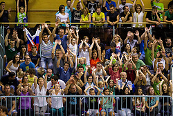 Fans during friendly basketball match between National teams of Slovenia and Georgia in day 2 of Adecco Cup 2014, on July 25, 2014 in Dvorana OS 1, Murska Sobota, Slovenia. Photo by Vid Ponikvar / Sportida.com