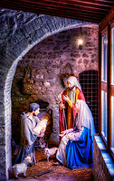"""""""Nativity of St. Francis with the Holy Family - The Basilica of Santa Maria degli Angeli Museum""""…<br /> <br /> """"After visiting Bethlehem, St. Francis wanted to imitate the humble setting of Christ's birth. In 1221, St. Francis had a novel idea. To celebrate the birth of Jesus, Francis wanted to recreate the experience of the first Christmas. He didn't want statues inside a church, but with animals in a humble hilltop grove. St. Francis' inspiration came after traveling to the Holy Land and seeing the exact site of Christ's birth. The poverty of it all deeply impacted Francis and was a particular element that he wanted to celebrate at Christmas. 'About 15 days before the Nativity of the Lord, he said to a friend in Greccio, For I would make memorial of that Child who was born in Bethlehem, and in some sort behold with bodily eyes His infant hardships; how He lay in a manger on the hay, with the ox and the ass standing by.' There Simplicity was honored, Poverty exalted, Humility commended, and of Greccio there was made as it were a new Bethlehem. The night was lit up as the day and was delightful to men and beasts… St. Francis stood before the manger, full of sighs, overcome with tenderness and filled with wondrous joy. The solemnities of Mass were celebrated over the manger, and the priest enjoyed a new consolation. According to St. Bonaventure, a miracle also occurred on that night and someone noticed St. Francis holding the Christ Child. A certain valiant and veracious soldier… affirmed that he beheld an Infant marvelously beautiful, sleeping in the manger, whom the blessed Father Francis embraced with both his arms as if he would awake Him from sleep. The idea caught on quickly and in 1291 the first Franciscan pope (Nicholas IV) commissioned statues to create the first permanent Nativity scene in the Roman Basilica of St. Mary Major. Nativity scenes in all shapes and sizes have been created throughout the world and they are one of the most popular Christmas tradit"""