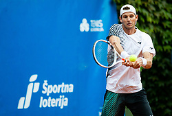 Blaz Rola of Team East in action during Day 3 of tennis tournament Mima Jausovec cup where compete best Slovenian tennis players of the East and West, on June 8, 2020 in RCU Lukovica, Slovenia. Photo by Vid Ponikvar / Sportida