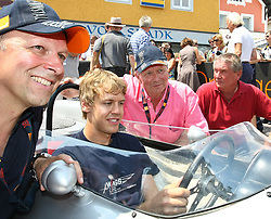 17.07.2010, Groebming, AUT, Ennstal Classic, Chopard Grand Prix Groebming, im Bild Sebastian Vettel auf einem Formel 1 Porsche aus dem Jahre 1962 mit Dr. Wolfgang Porsche#, EXPA Pictures © 2010, PhotoCredit: EXPA/ J. Groder / SPORTIDA PHOTO AGENCY