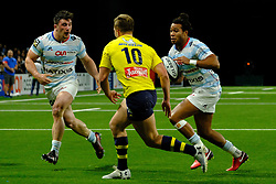 January 8, 2018 - Nanterre, Hauts de Seine, France - Racing Metro 92 Wing TEDDY THOMAS in action during the French rugby championship Top 14 match between Racing Metro 92 and Clermont at U Arena Stadium in Nanterre - France.Racing won 58-6 (Credit Image: © Pierre Stevenin via ZUMA Wire)