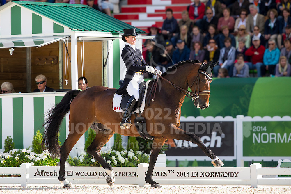 Belinda Trussel, (CAN), Anton - Grand Prix Special Dressage - Alltech FEI World Equestrian Games&trade; 2014 - Normandy, France.<br /> &copy; Hippo Foto Team - Leanjo de Koster<br /> 25/06/14