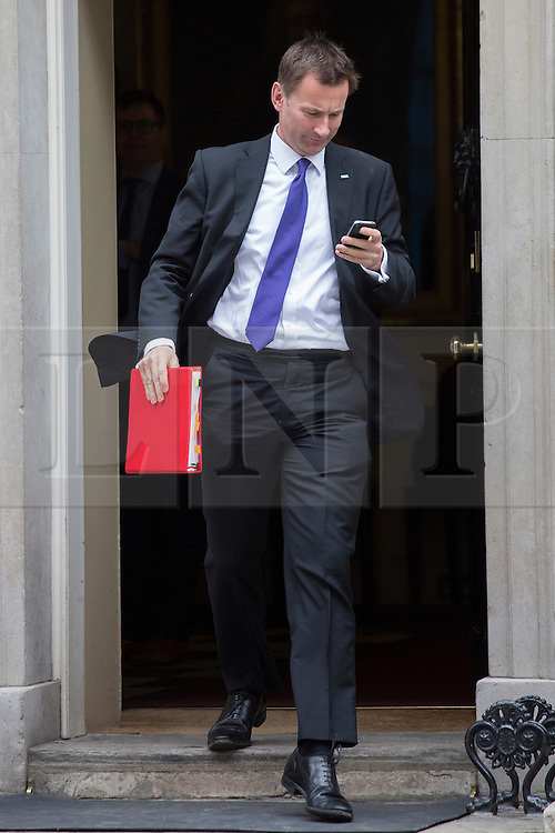 © licensed to London News Pictures. London, UK 16/04/2013. Secretary of State for Health, Jeremy Hunt leaving Downing Street after Cabinet meeting on Tuesday, 16 April 2013. Photo credit: Tolga Akmen/LNP