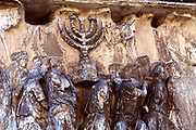 Roman troops carrying away the Menorah from the Temple at Jerusalem. Forum. Rome.