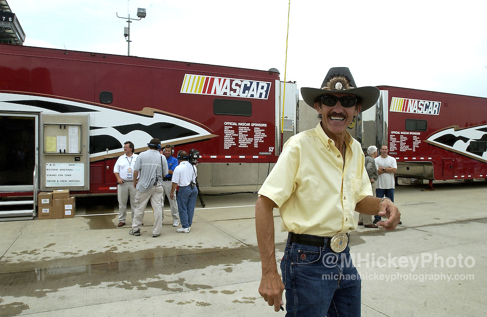Richard Petty seen at the Indianapolis Motor Speedway before the Brickyard 400.