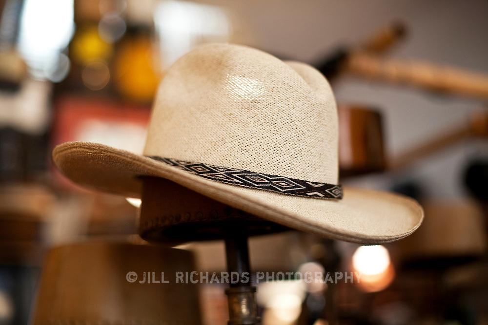 Master milliner S. Grant Sergot of Optimo Hatworks located on Main Street in Bisbee, AZ.