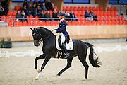 Adelinde Cornelissen - Aqiedo<br /> KNHS Indoorkampioenschappen 2017<br /> © DigiShots