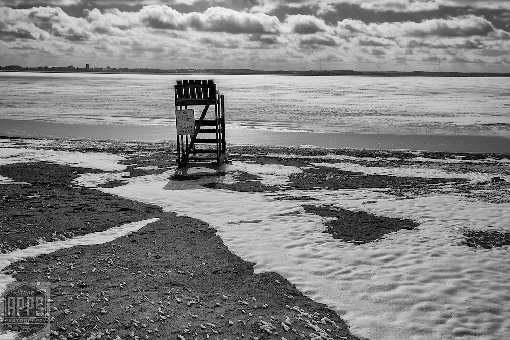 Waiting for spring at Warner Park Beach in Madison, Wisconsin Saturday, Feb. 25, 2017.